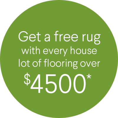 Get a free rug, worth $499, with every house lot of flooring over $4500*