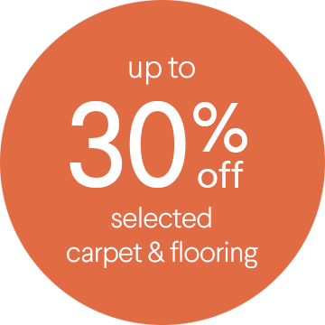 Up to 30% off selected carpet & flooring